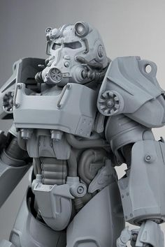 Check Out Fallout 4 Action Figure Prototypes - GameSpot Fallout 4 Power Armor, T 60 Power Armor, Fallout Art, Fallout New Vegas, Anubis, Military Paint, Fallout Cosplay, Foam Armor, Armor Concept