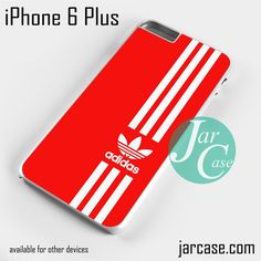 Straight Adidas Red Phone case for iPhone 6 Plus and other iPhone devices