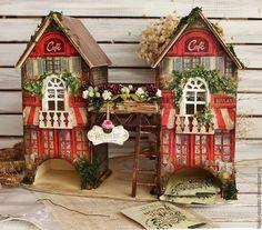 Купить КОНКУРС!!!!чайный домик ВЕНСКАЯ КОНДИТЕРСКАЯ - красный, домик миниатюра, домик для чая, чайный домик