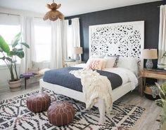 Elegance chic bohemian bedroom design ideas (79)