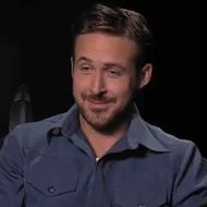 Reaction gif tagged with laugh, facepalm, Ryan Gosling