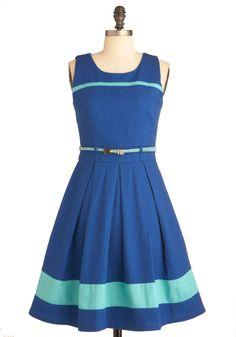 Striped Bluebird Dress