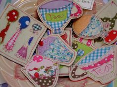 a great idea for coasters...a little bit of fabric and some sewing