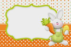 Pascua en Naranja: Invitaciones para Imprimir Gratis.