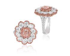 Diamond Hoop Earrings, Diamond Rings, Diamond Jewelry, Titanium Jewelry, Titanium Rings, Pink Jewelry, Beautiful Hands, Druzy Ring, Women Jewelry