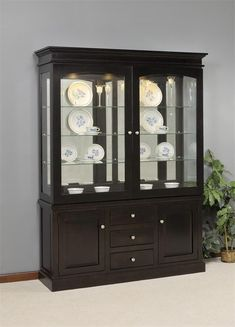 Amish Deluxe Mission Sliding Door Hutch