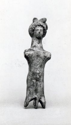 Museum number 1863,0114.10  Description: Head and body of mould-made terracotta doll; red and white slip; limbs lost.  Date 5thC BC(late)  Production place Made in: Corinthia (Europe,Greece,Peloponnese,Corinthia)  Dimensions Height: 10.5 centimetres