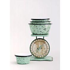 Enamel Graniteware Nesting Bowls   Barn Light Electric