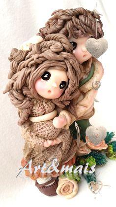 Art&mais: L'attesa/ https://it.pinterest.com/pin/783978247603765480/ doll in pasta di mais/porcelana fria/cold porcelain/fimo/pasta polimerica/bomboniere/oggetti fai da te/articoli regalo/pasta di mais/tutorial