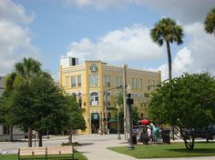 The downtown square with numerous activities on weekends year round!