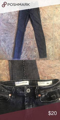 "Bullhead acid wash black/grey skinny jeans High rise ""skinniest"" Bullhead acid wash jean. Size 3. Barely worn. Bullhead Jeans Skinny"