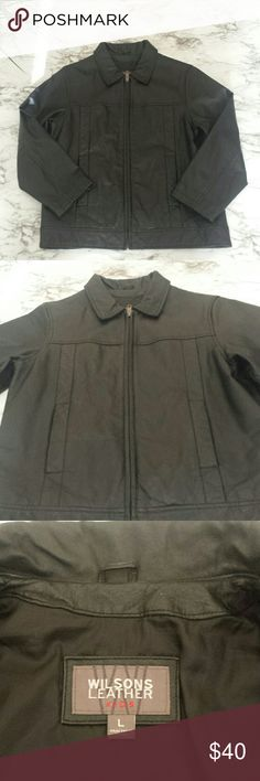 Wilsons Leather Kids Black Genuine Leather Jacket Wilsons Leather Kids Black Genuine Leather Jacket (Boy). Jacket is lined, has pockets and is in mint condition. Wilsons Leather Jackets & Coats