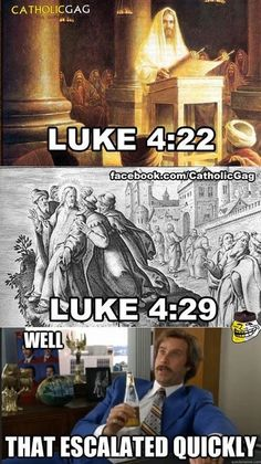 Well that escalated quickly meme - Christian / Bible versions Catholic Jokes, Atheist Jokes, Religious Jokes, Well That Escalated Quickly, Christian Jokes, Christian Religions, Word Of God, Laughter, Funny Pictures