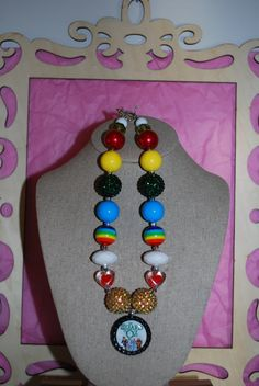 Chunky Bead/Bottle Cap Necklace  The Wizard of by beadazzledkiddos