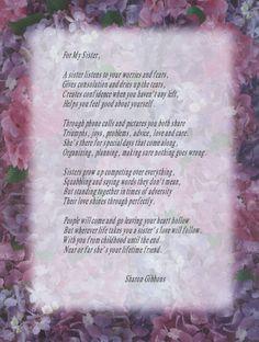 Brother From Sister Poems | Dad Poem Sister Poem