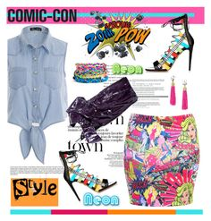 """Weekend at Comic-Con"" by spenderellastyle ❤ liked on Polyvore"