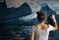 Zaria Forman: Artista pinta obras hiperrealistas de los polos con sus dedos