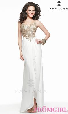 Prom Dresses, Plus Size Dresses, Prom Shoes: Long High Neck Open Back Gown by Faviana