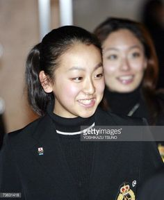 Tokyo, JAPAN: Japanese women's singles skater Mao Asada smiles as she attends the opening ceremony for the World Figure Skating Championships 2007 at a Tokyo hotel, 19 March 2007. Some 200 skaters from 48 countries will participate the championships which will start from 20 March. AFP PHOTO / Yoshikazu TSUNO (Photo credit should read YOSHIKAZU TSUNO/AFP/Getty Images)