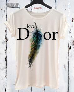 handmade love feather dior woman cool valentino t-shirt, anishar t-shirt, eugoria t-shirt, fashion t-shirt