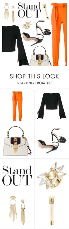 """Stand Out"" by dressedbyrose ❤ liked on Polyvore featuring MSGM, Roland Mouret, Gucci, Trina Turk, Kenneth Cole, Yves Saint Laurent, ootd and polyvoreeditorial"