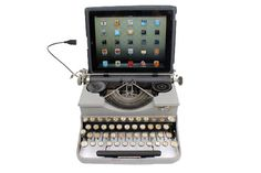 This typewriter works with any iPad or laptop. So amazing!