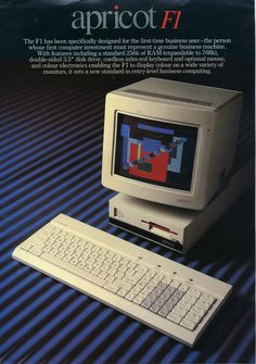 Vintage 1984 Brochure Apricot F1 Personal Computer