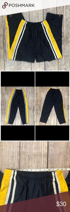 833f123c VINTAGE 80s Holloway S Basketball Warm Up Pants Vintage street style  1980's/ 1990's Nylon Snap