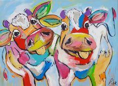 Swinging cows - www.vrolijkschilderij.nl