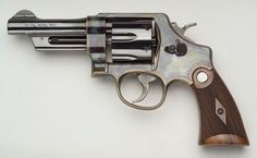 1950s revolver, a collectors item, beautiful grips.