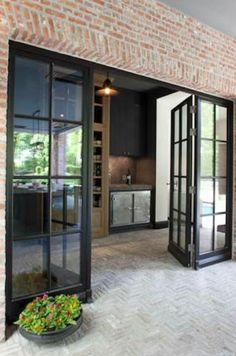 I love the doors especially for a kitchen/garden connection Windows, House Design, New Homes, Windows And Doors, French Doors, Patio Doors, Doors, House Exterior, French Doors Interior