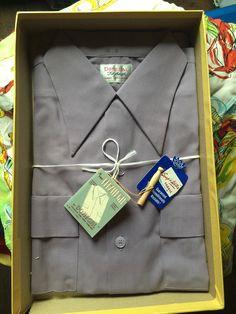 Een persoonlijke favoriet uit mijn Etsy shop https://www.etsy.com/listing/270362417/1940s-new-in-the-box-mens-shirt-lavender