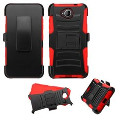 Insten Hard PC/ Silicone Dual Layer Hybrid Case Cover with Holster For Microsoft Lumia 650