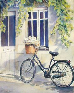 Bicycle on French Street web.jpg (360×456) by Sue Lynn Cotton