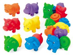 Lakeshore's Mix & Match Farm Animals are super-easy for small hands to fit together!