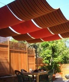 Diy simple retractable shade cloth use a wire cable set for Shade cloth san diego