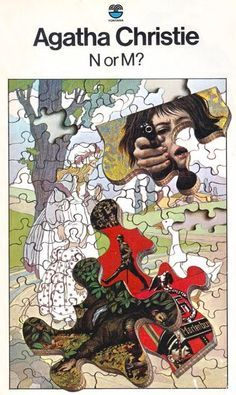 N or M?, Agatha Christie, British Golden Age Crime novel, Fontana, Artwork: Tom Adams http://scottgronmark.blogspot.co.uk/2016/10/tom-adams-genius-who-illustrated.html