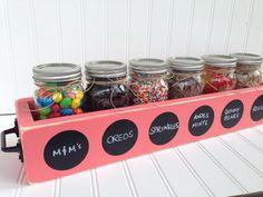 Ice Cream Sundae Topping Party Bar Mason Jar by SimpleSerendipity