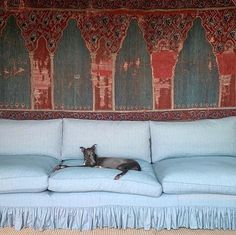 Quality control checks for @soanebritain by Panther the whippet 🐾 Alcove Seating, Beautiful Sofas, Whippet, Bold Colors, Color Combos, Color Mixing, Britain, Oriental, Upholstery