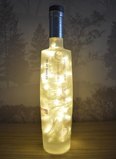 Upcycled Octomore Whisky Bottle Lamp by WhiskyAGlowGlow on Etsy