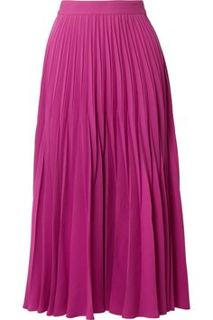 Co Pleated Crepe Midi Skirt - Magenta Cos Skirts, White Heels, Top Designer Brands, Magenta, Fashion Online, Midi Skirt, Fashion Beauty, Tulle, Dressing