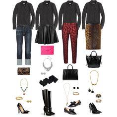 One Wardrobe Piece Styled Four Ways: Black Silk Blouse