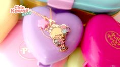 Lovely Pendant charm Chic Kawaii similar polly pocket style. Polly Pocket Dolls, Original Design, Kawaii Stationery, Cute Crafts, Pretty Little, Lip Balm, Pink, Charmed, Pendant Necklace