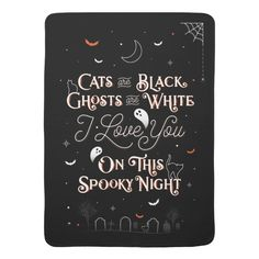 Shop On This Spooky Night Baby Blanket created by Lettermuse_Co. Gothic Baby, Baby Halloween, Haunted Halloween, Diy Doll Miniatures, Halloween Traditions, Baby Bats, Baby Nursery Bedding, Baby Room Decor, Lettering Design