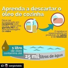 Você descarta corretamente a sobra de óleo de fritura da sua casa ou empresa?  --> APRENDA A DESCARTAR O ÓLEO DE COZINHA! #Repost @sergiotaldo with @repostapp by plantai http://ift.tt/1NF2nEy
