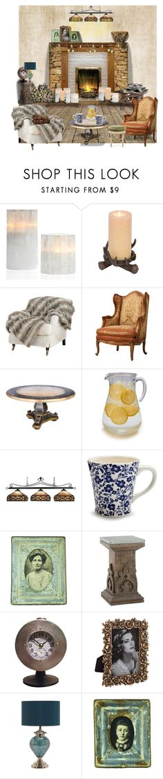 """A Room For Judy"" by ninak7608 ❤ liked on Polyvore featuring interior, interiors, interior design, home, home decor, interior decorating, Therapy, OKA, Sur La Table and ELK Lighting"