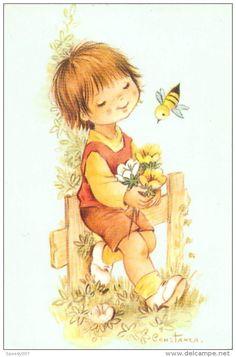 Illustration Enfant Guepe Signé Constanza AZ 13