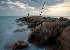 Rock Jetty and Sunset, Captiva Island, Florida   by John Bald, via Flickr