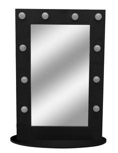 Decor Lights - Feng Sui - Mirrors .::. mirrors .::. ΚΑΘΡΕΠΤΗΣ ΜΠΑΝΙΟΥ IP 44 HOLLYWOOD  ΜΑΥΡΟΣ :: Τριαντάφυλλος Φωτιστικά - light me - triadafillos.gr