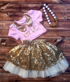 A personal favorite from my Etsy shop https://www.etsy.com/listing/401147543/first-birthday-outfit-girl-1st-birthday